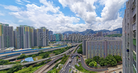 hong kong public estate buildings with