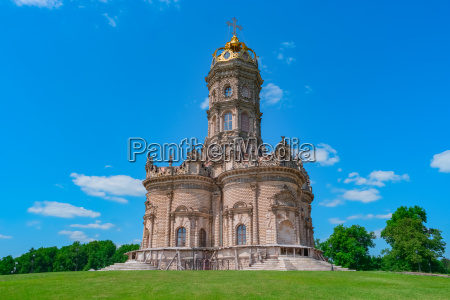 orthodox church in baroque style russia