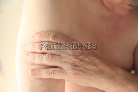 man with painful upper arm