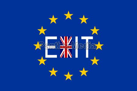 flaggen europas und grossbritanniens mit wort
