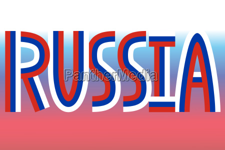 russia inscription made from russian flags