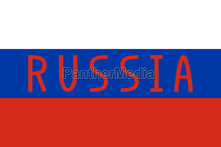 russian flag and word russia
