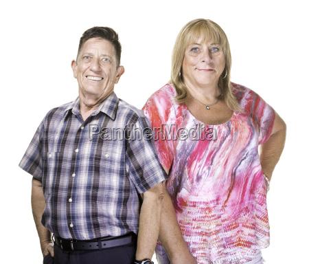 smiling transgender man and woman