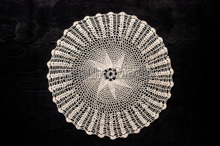 vintage round lace napkin on the