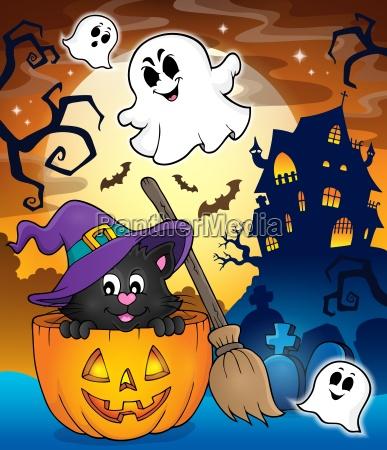 halloween katze thema bild 3
