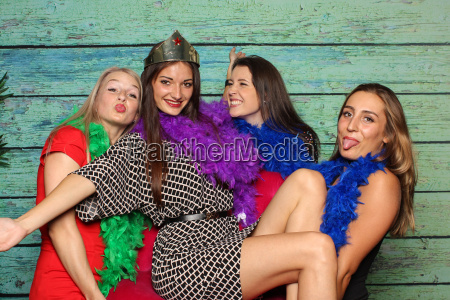 young girls silly in front of