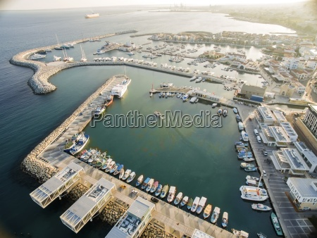 aerial view of limassol old port