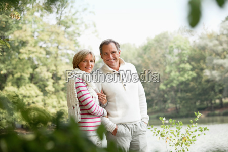middle aged couple outdoors