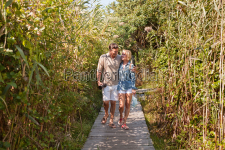 couple walking together