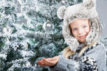 girl under the snow by christmas