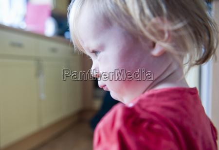 close up of toddler girls face