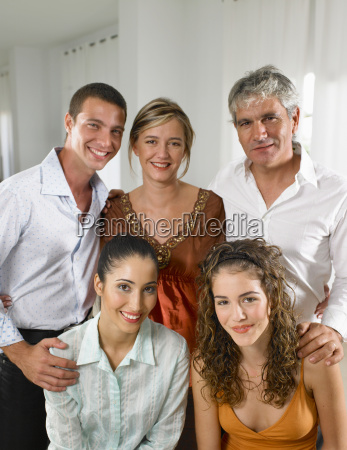 family portrait at home