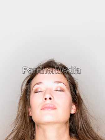 woman portrait with closed eyes