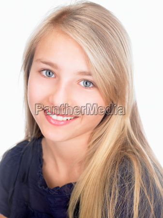 girl smiling at the camera portrait