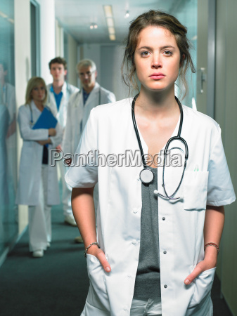 group of four doctors in a
