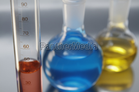 chemical lab glassware graduated cylinder and