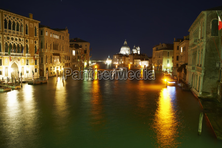 night time view of grand canal