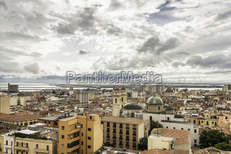 high angle view of cagliari sardinia