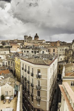 apartment buildings cagliari sardinia italy