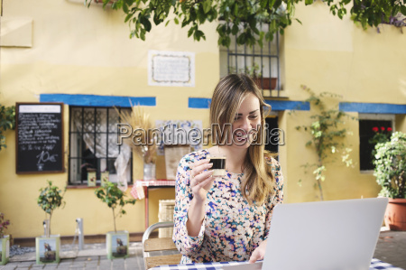 young female tourist enjoying a break