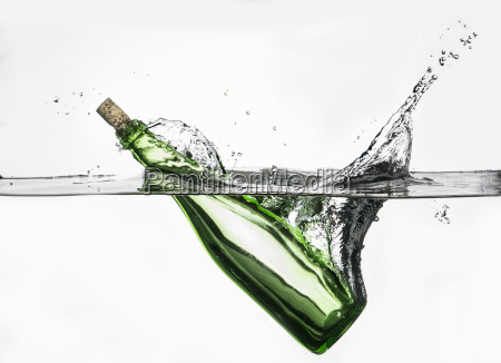 surface level view of green bottle