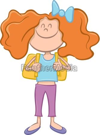 school girl or teen cartoon
