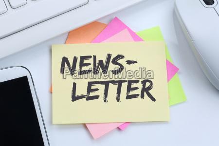 newsletter bestellen im internet fuer business