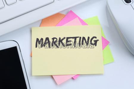 marketing werbung firma buero business konzept