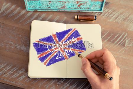 volkszaehlung 2021 grossbritannien auf notebook seite