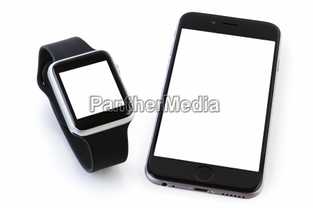 smart watch sport with smatphone on