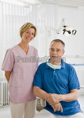 portrait of a male dentist and