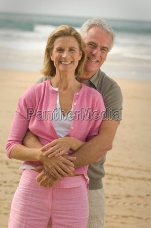couple embracing on a beach