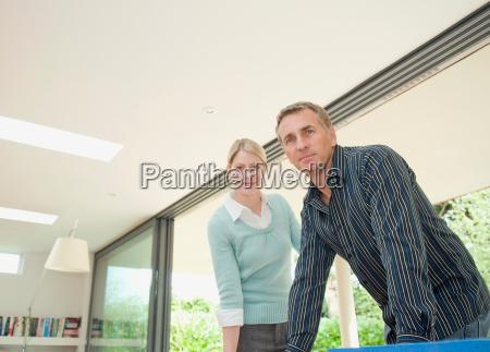 a contemporary business couple