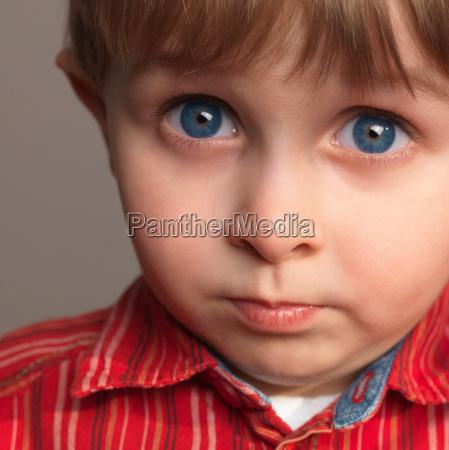 boy portrait close up