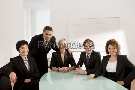 portrait of a business meeting