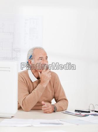portrait of senior businessman