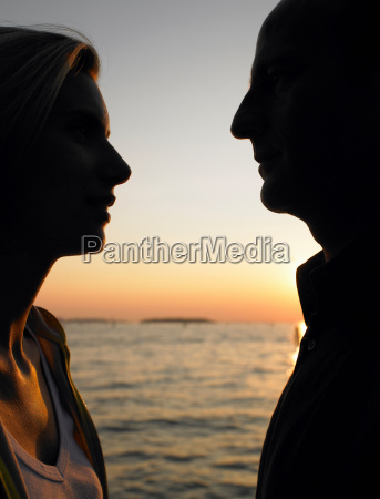 silhouette of a couple