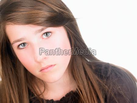 girl looking at camera seriously