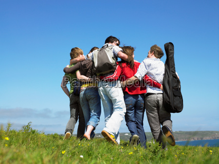 group of young people outdoors