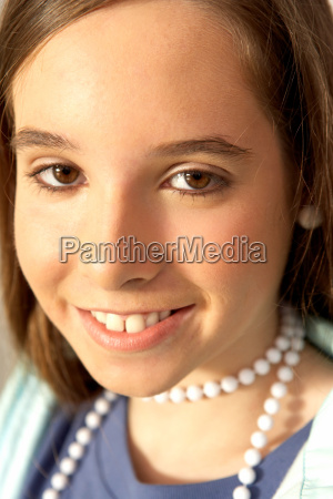 girl smiling portrait close up