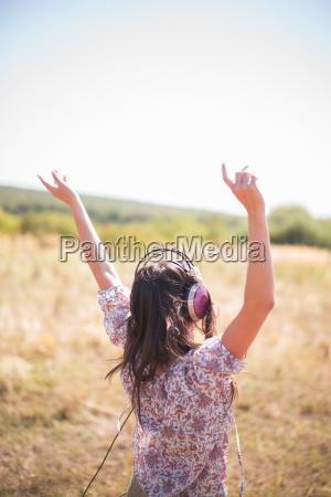 portrait of mid adult woman dancing