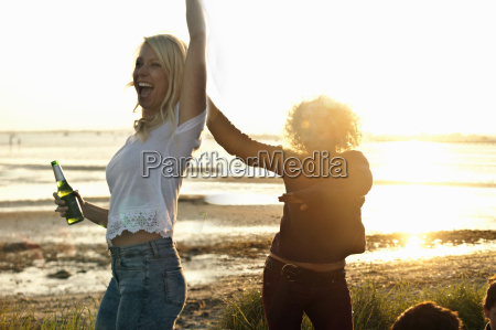 mother and daughter partying on bournemouth