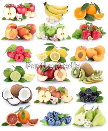 fruits apple banana orange berries orange