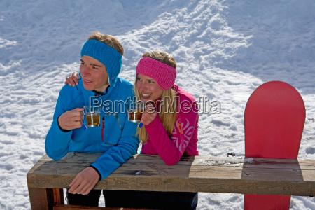 couple sitting smiling