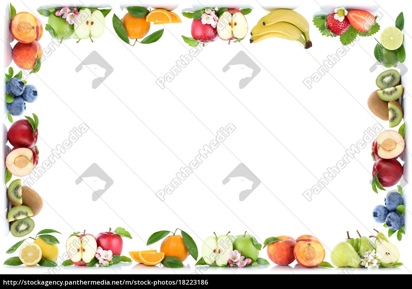 Früchte Apfel Orange Äpfel Orangen Obst Rahmen - Stock Photo ...