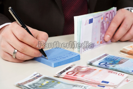 money on desk