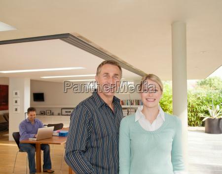 a portrait of a business couple