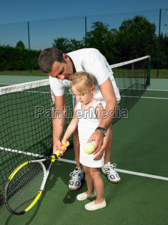 tennis lesson for young child