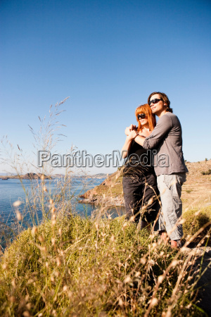 young couple enjoying view