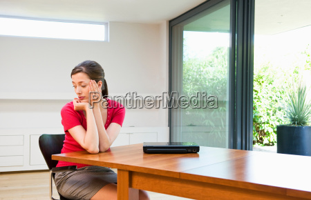 sad business woman deep in thought